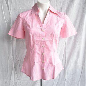 * LOFT Pink Button Front Top Sz 0